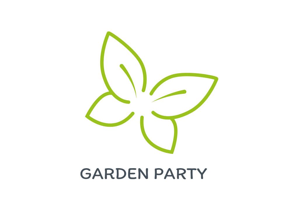 Logo de garden Party - Julie Landais - Création web et graphisme