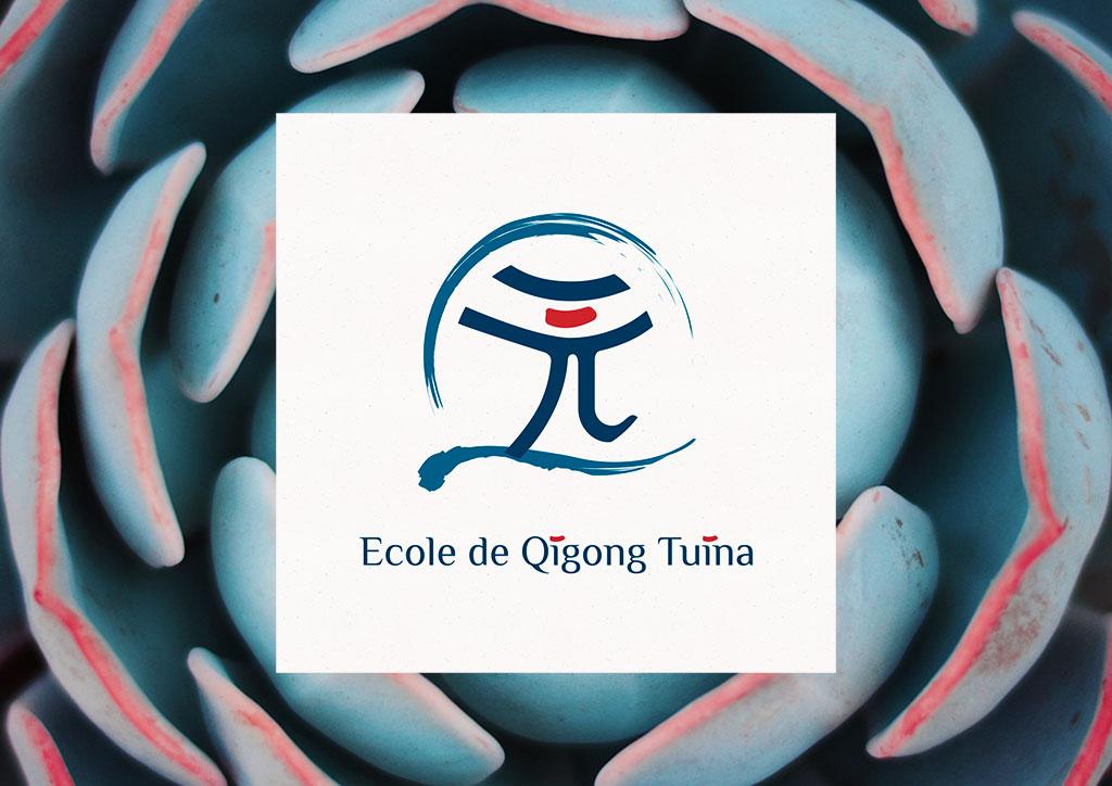 Logo ecole de Qigong Tuina - Julie Landais, création d'identité visuelle et site internet