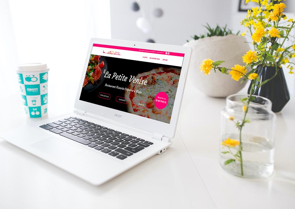 Mock-up du site internet d'un restaurant - Julie Landais, création d'identité visuelle et site internet
