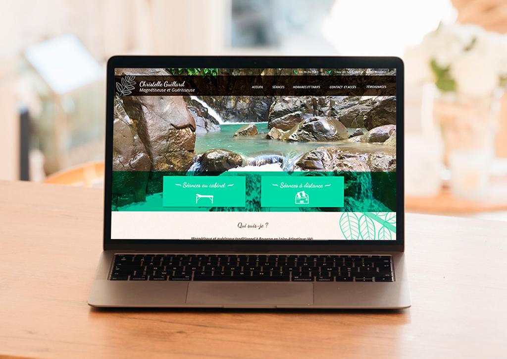 Site internet magnétiseur - Julie Landais Création web et graphisme