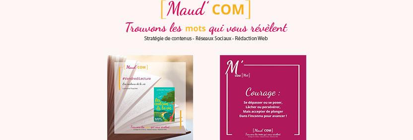 Visuels de réseaux sociaux Maud'Com - Julie Landais
