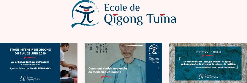 Visuels de réseaux sociaux ecole de qigong tuina - Julie Landais